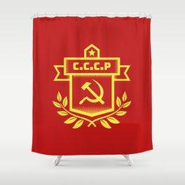 Communist Hammer Sickle Insignia Shower Curtain