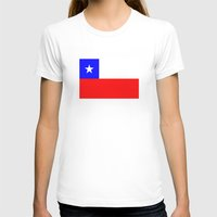 chile T-shirts featuring Chile country flag by tony tudor