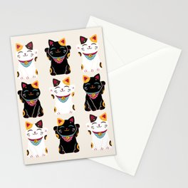 Maneki Neko - Lucky Cats Stationery Cards