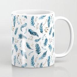 Feathers and dried flowers Coffee Mug