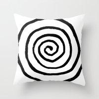 fibonacci Throw Pillows featuring Fibonacci by Geryes