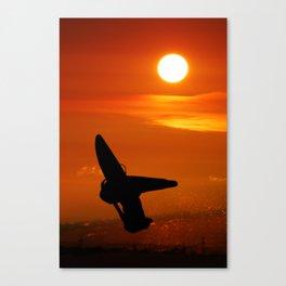 Windsurfing sunset Canvas Print