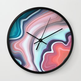 Beauty agate mineral gem stone Wall Clock