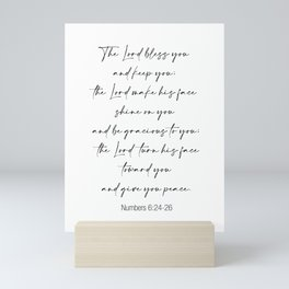 The Lord Bless You  - Numbers 6:24-26 Mini Art Print