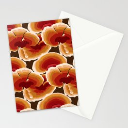 Retro Reishi Mushrooms Stationery Cards