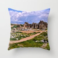 turkey Throw Pillows featuring Side Turkey by helsch photography
