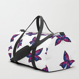 Fly With Pride: Bisexual Flag Butterfly Duffle Bag