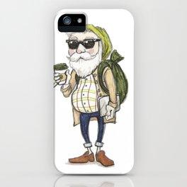 Hipster Santa iPhone Case