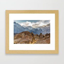 Mount Whitney Sunset Framed Art Print