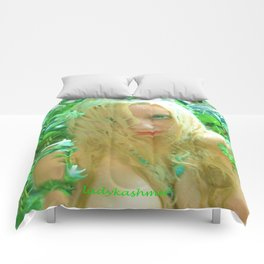 Nude sexy blond wet fairy wood nymph lady kashmir  Comforters