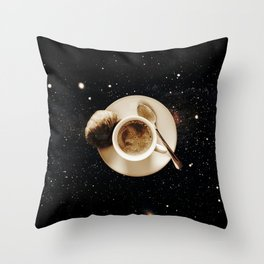 Galaxy coffee Throw Pillow