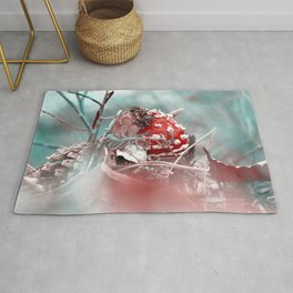 Fly agaric like from the fairytale forest Rug