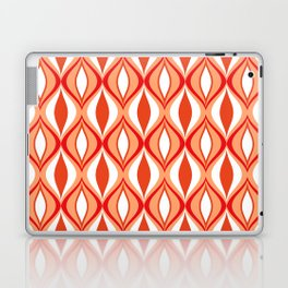 Mid-Century Modern Diamonds, Orange and White Laptop & iPad Skin