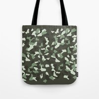 camo Tote Bags featuring CAMO by Brukk