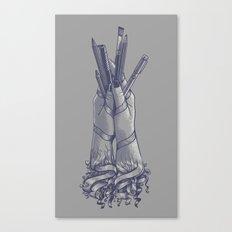 An Artist's Hands Canvas Print