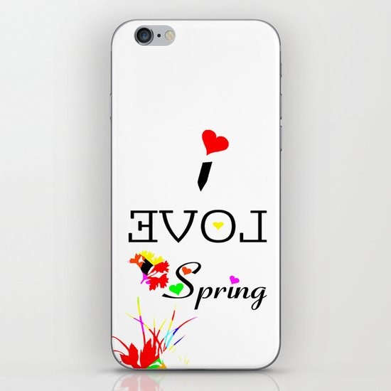 I LOVE SPRING  iPhone & iPod Skin
