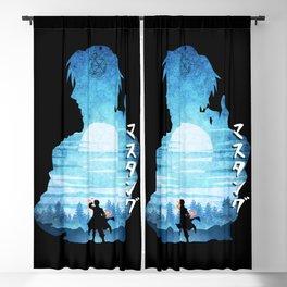 Minimalist Silhouette Roy Blackout Curtain