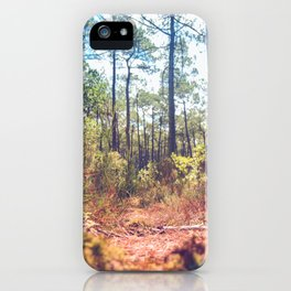 Trees in the Middle of Wilderness iPhone Case