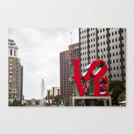 Love Park Canvas Print