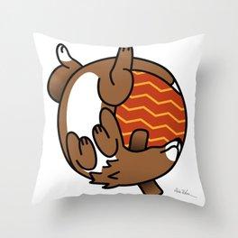 Round Dog Throw Pillow