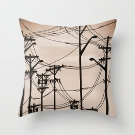 Industry poles vintage Throw Pillow