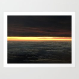 Dusk in the clouds Art Print