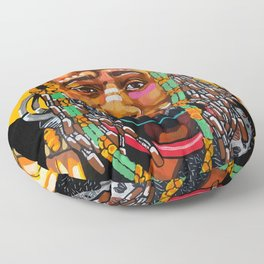 King is Black Floor Pillow