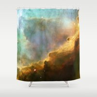 nasa Shower Curtains featuring Bright nebula galaxy stars sagittarius constellation hipster geek cool space star nebulae NASA photo by iGallery