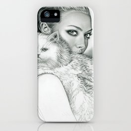 Actress with Cat iPhone Case