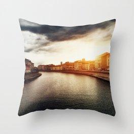 Arno River Throw Pillow