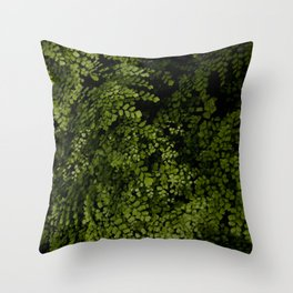 Small leaves Throw Pillow