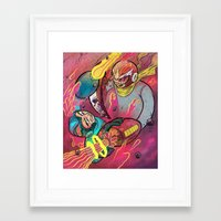 mega man Framed Art Prints featuring Mega Man Tribute by Logan  Faerber