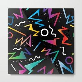 80's Inspired Pop Art Pattern Metal Print
