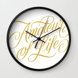 Amateur of Life (color) Wall Clock