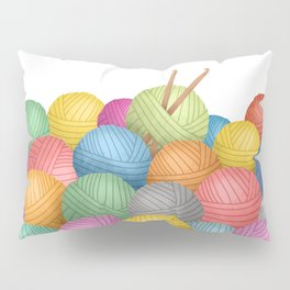 Two Crochet Hooks And A Lot Of Yarn Pillow Sham