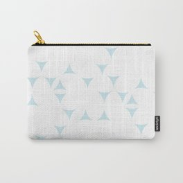 White_Blue_Triangles Carry-All Pouch