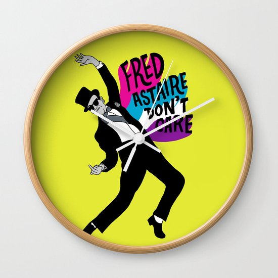 He Don't Care Wall Clock
