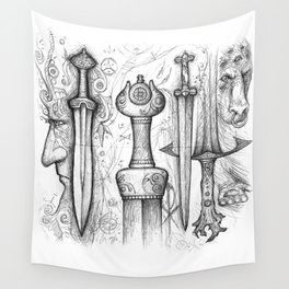 Iron-Sung Swords Stories Wall Tapestry