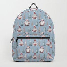 CHRISTMAS GNOMES - light blue Backpack