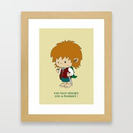I'm not short, I'm a hobbit Framed Art Print