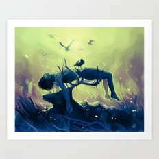Hannibal death scene - Minnesota Shrike Art Print
