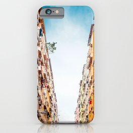 Residential apartment in old district, Hong Kong iPhone Case