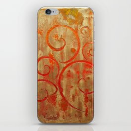 Pompeii Red (encaustic painting) iPhone Skin