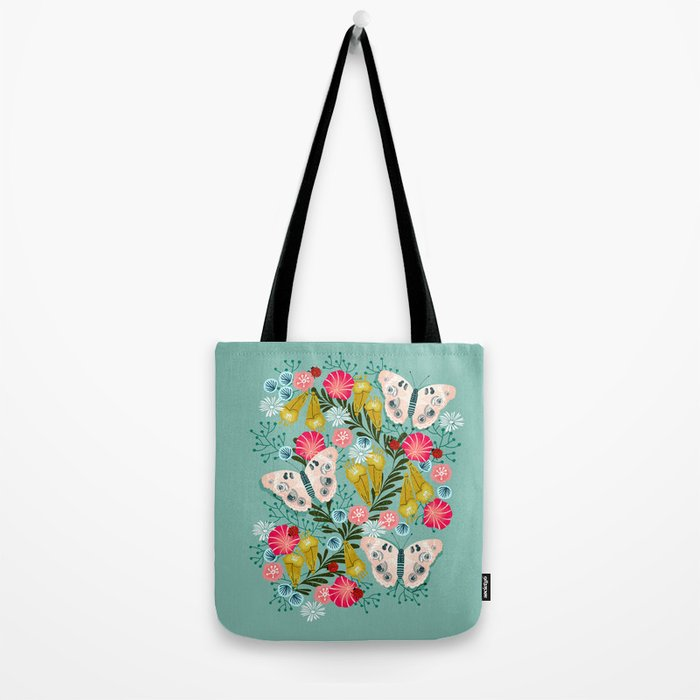 Buckeye Butterly Florals by Andrea Lauren  Tote Bag