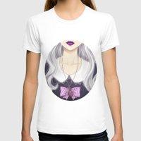 pastel goth T-shirts featuring Pastel Goth Girl by Elisa Ellie Serio
