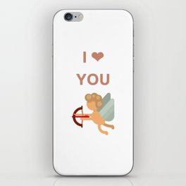 I LOVE YOU - cupid iPhone Skin