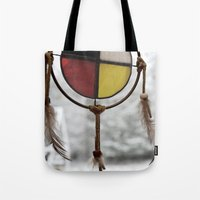 medicine Tote Bags featuring Medicine Wheel by Jessi Trafton
