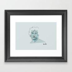 Portrait: Neil Gaiman Framed Art Print