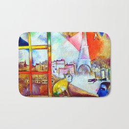Marc Chagall Paris Through the Window Bath Mat