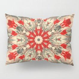 dalia green red mandala Pillow Sham